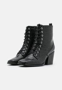 Glamorous Wide Fit - Šněrovací kotníkové boty - black - 2