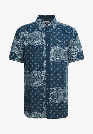 BANDANA PRINT SHIRT - Košile - blue