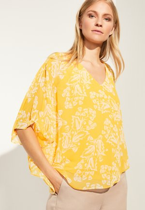 MIT VOLANTS - Blouse - yellow two tone flowers