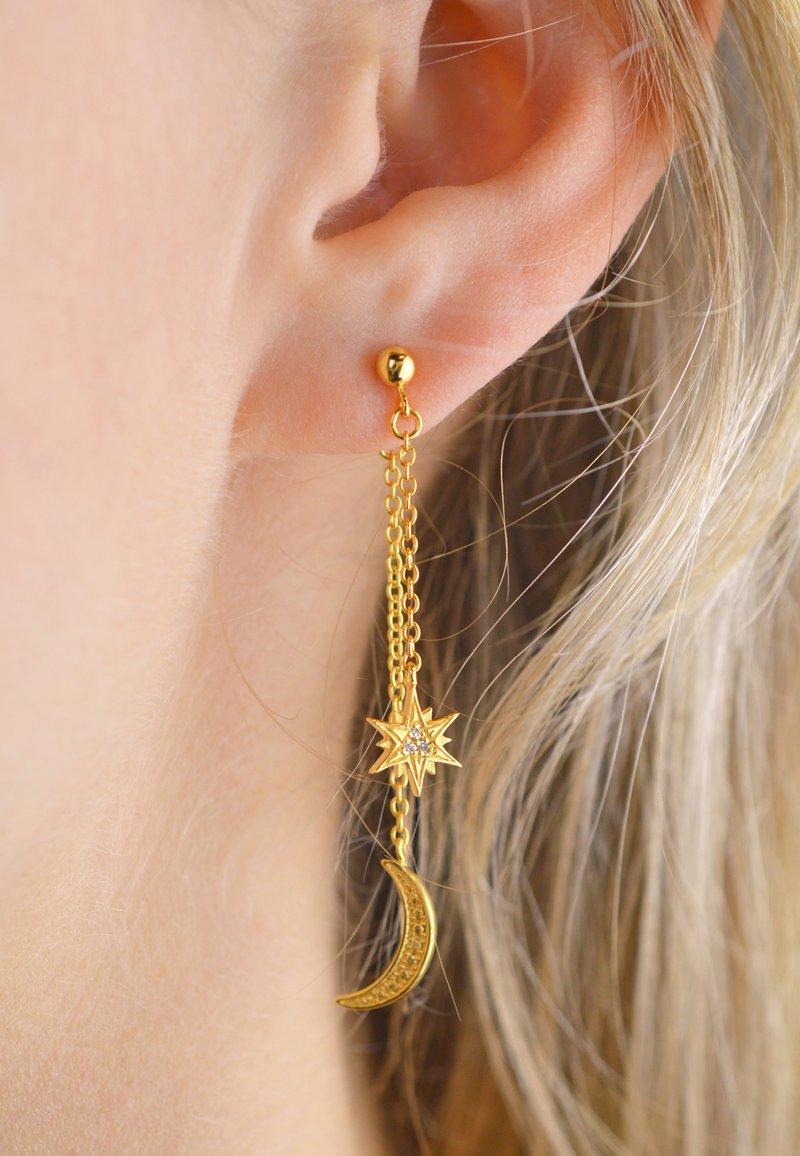 Diamanti Per Tutti - MOON DIAMOND SINGLE EARRING - Earrings - 18k yellow gold vermeil