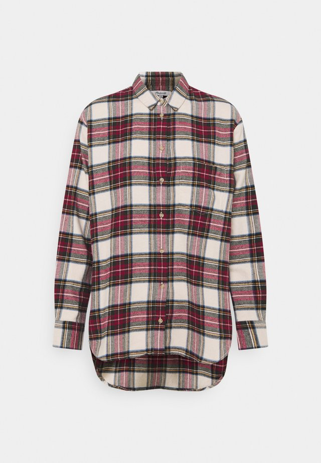 HOLIDAY PLAID - Blouse - red