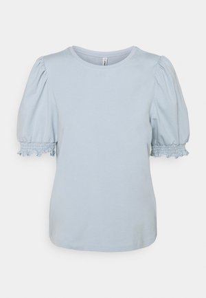 ONLDREA LIFE PUFF SMOCK - T-shirt con stampa - blue fog