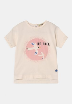 PERCY - Print T-shirt - white/pink