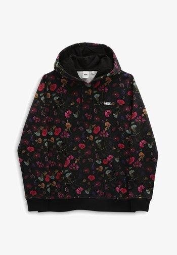 TANGLED FLOWERS PO - Hoodie - black