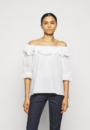 ELON THINKTWICE - Long sleeved top - bright white