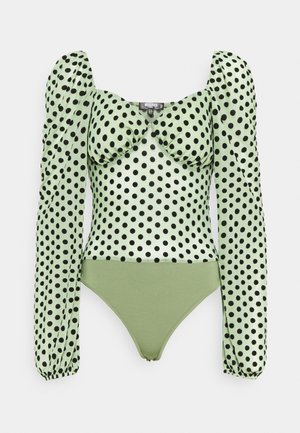 SPOT LONG SLEEVE BODYSUIT - Blouse - mint