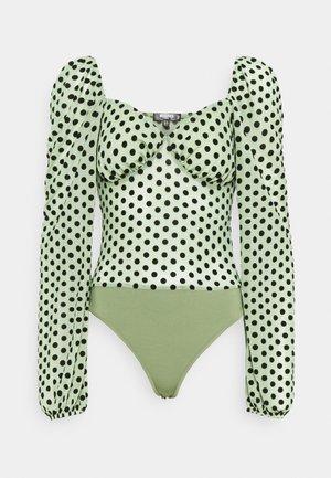 SPOT LONG SLEEVE BODYSUIT - Bluse - mint