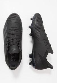 adidas Performance - PREDATOR 20.2 FG - Voetbalschoenen met kunststof noppen - core black/dough solid grey - 1