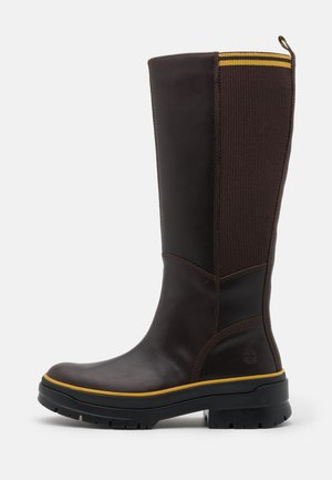 MALYNN TALL BOOT WP - Platform boots - mid brown