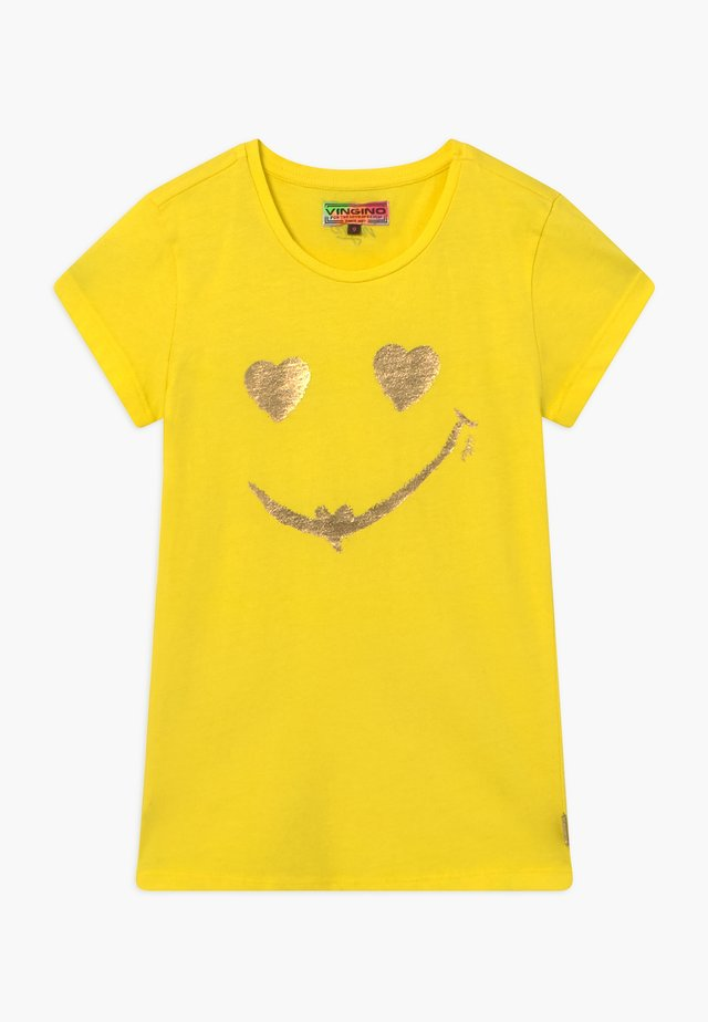HELAINE - T-shirts med print - bright yellow