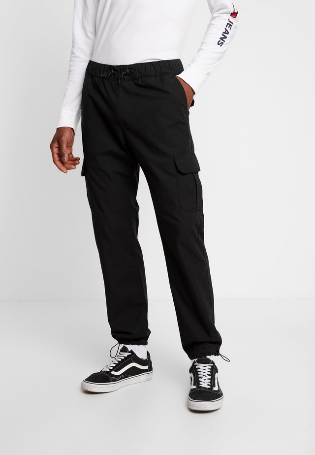 RIPSTOP CARGO PANTS - Cargo trousers - black