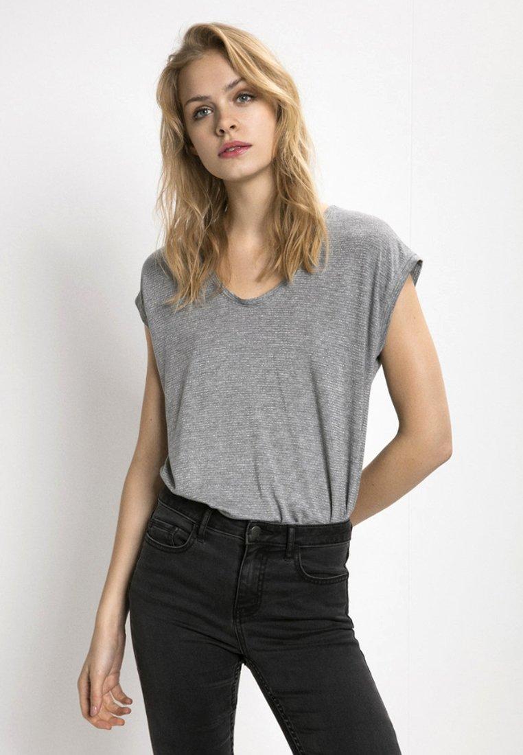 Pieces - T-shirt imprimé - light grey melange