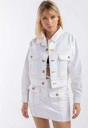 BOHO – katana + skirt - Kurtka jeansowa - white