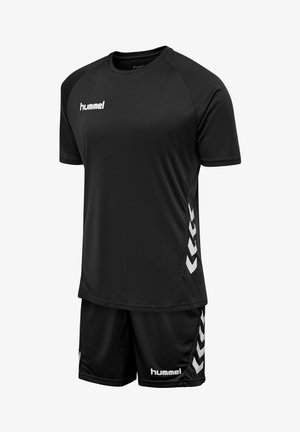 2 PIECE SET - Sports shorts - black