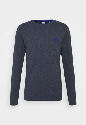 JJADAM TEE CREW NECK - Long sleeved top - navy blazer