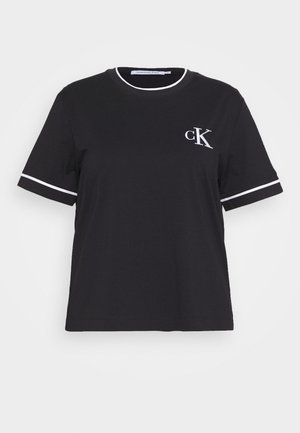 EMBROIDERY TIPPING TEE - Print T-shirt - black