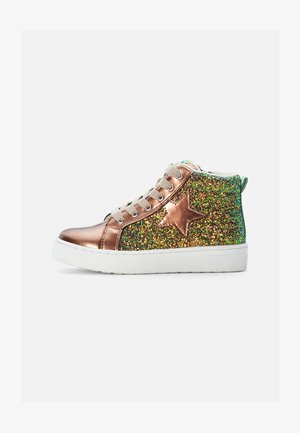 TRAINERS - High-top trainers - bronze