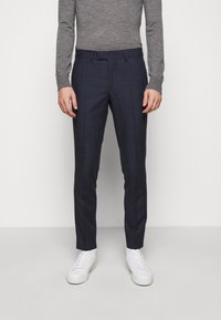 J.LINDEBERG - GRANT CHECKED PANTS - Suit trousers - mid blue - 2