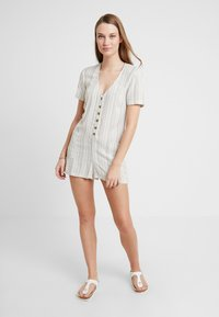 Topshop - STRIPE BUTTON - Beach accessory - cream - 1