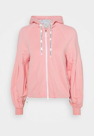Mikina na zip - light pink