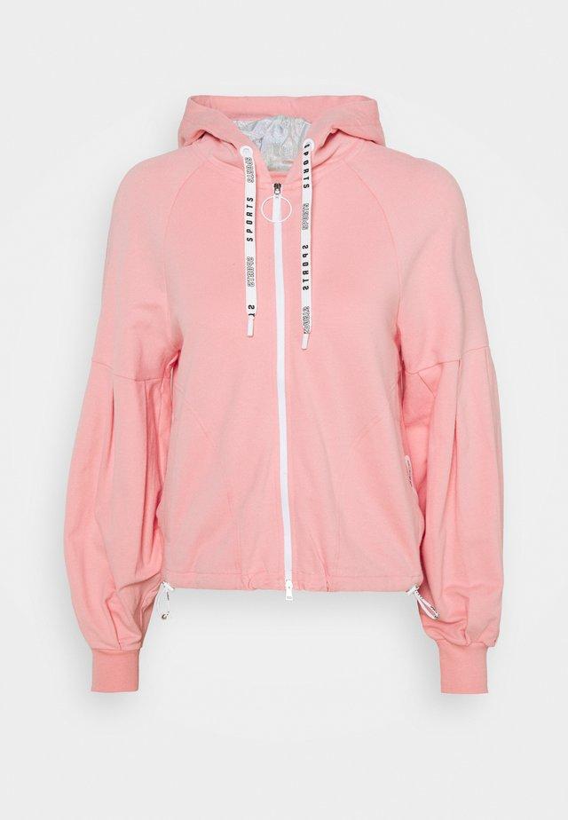 Mikina na zip - light pink