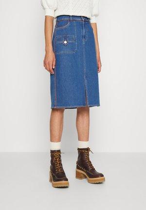 Denim skirt - truly navy