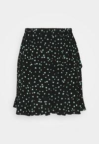 TOM TAILOR DENIM - VOLANT SKIRT - Mini skirt - black - 0
