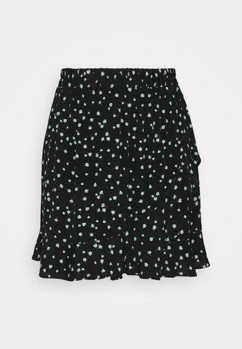 VOLANT SKIRT - Mini skirt - black