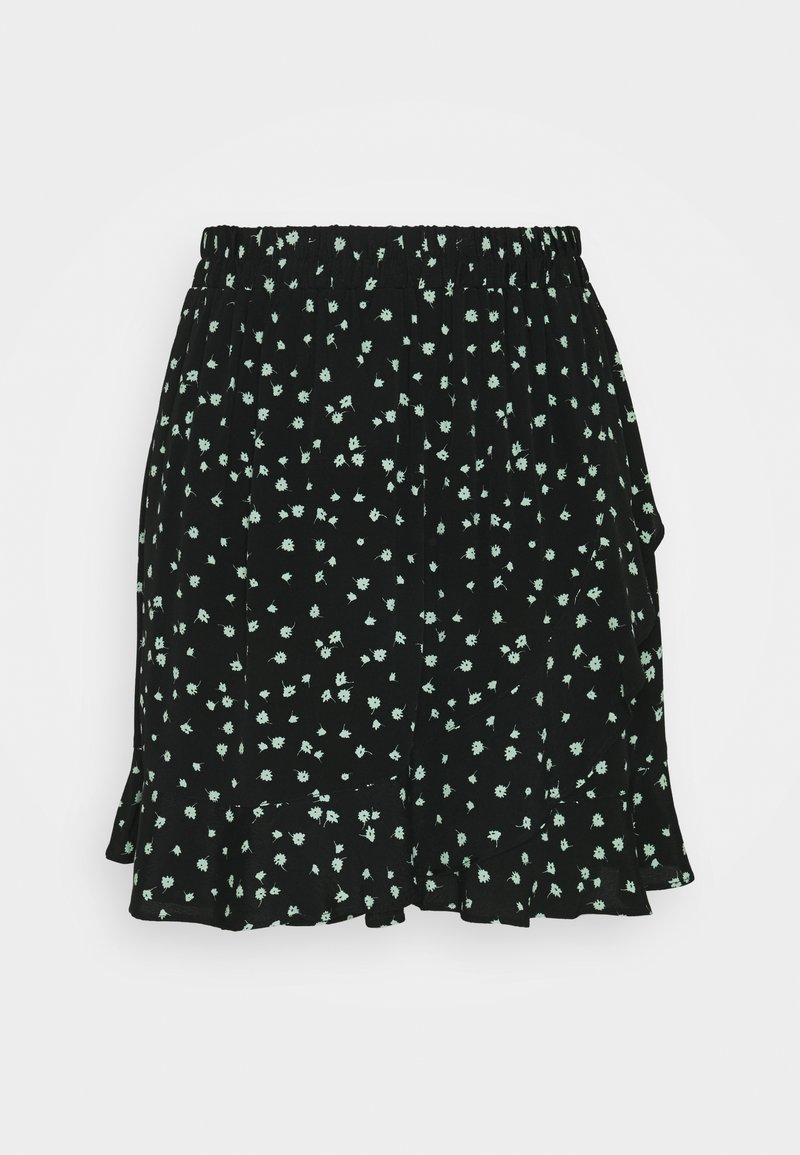 TOM TAILOR DENIM - VOLANT SKIRT - Mini skirt - black