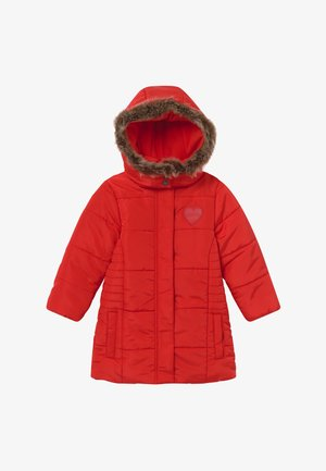 KIDS FAUX FUR HOOD - Winter coat - tomate