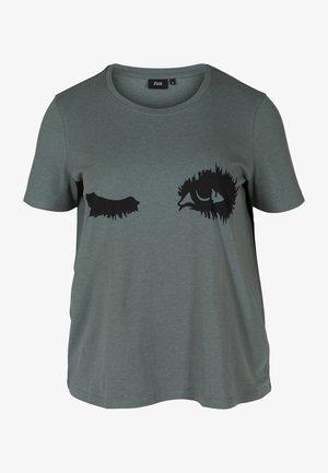 Print T-shirt - balsam green