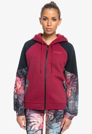 Sweater met rits - tibetan red