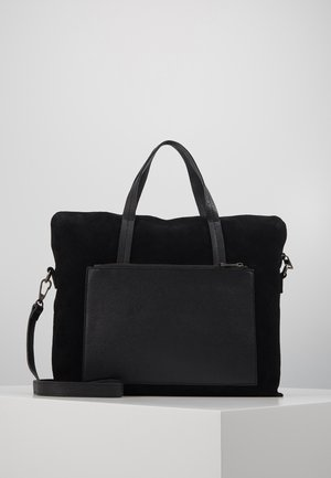 LEATHER - Briefcase - black
