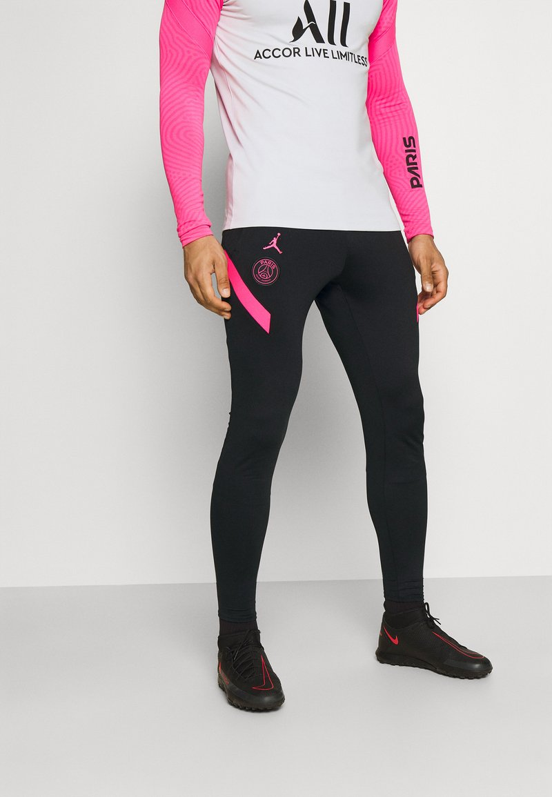 Nike Performance - PARIS ST GERMAIN PANT - Verryttelyhousut - black/hyper pink/hyper pink