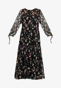 Madewell - TIERED BUTTON FRONT MIDI DRESS - Day dress - pom pom floral true black - 6