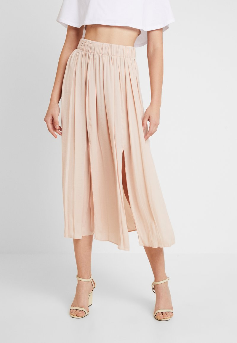 Topshop - SUMMER PLEAT - Maxi skirt - cream