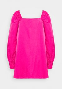 Who What Wear - RUCHED LONG SLEEVE BABYDOLL - Day dress - magenta - 1