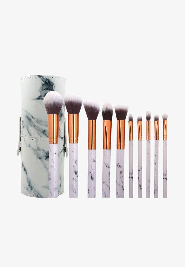 10PK MAKEUP BRUSH, CYLINDRIC CASE - Makeup brush set - mix