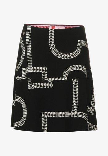 MIT PRINT - A-line skirt - schwarz