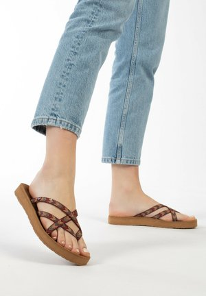 HANNA - T-bar sandals - brown