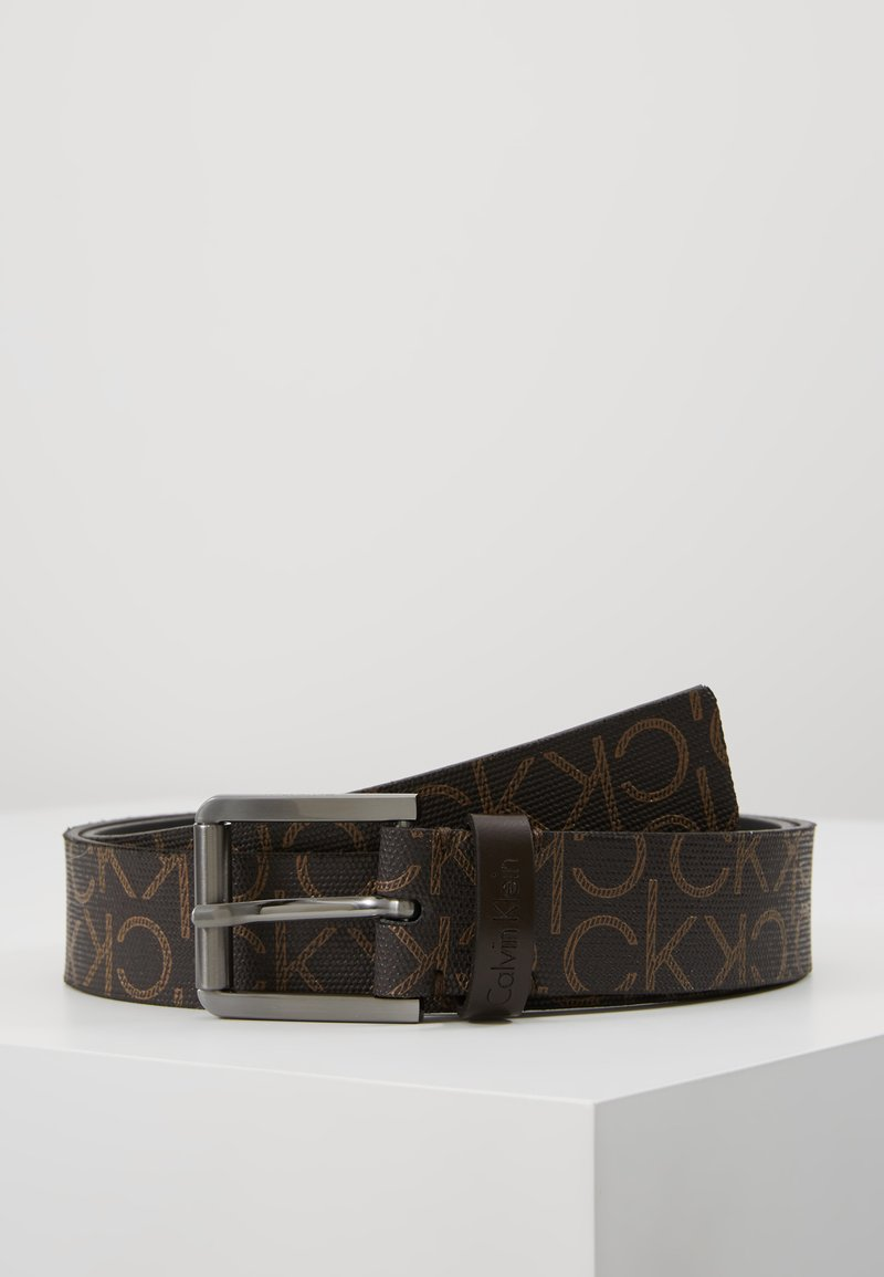 Calvin Klein - SEASONAL MONO BELT - Pásek - brown
