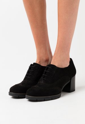 LACE UP - Ankle boot - black