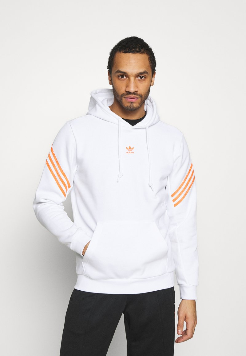 adidas Originals - SWAROVSKI HOODIE UNISEX - Hoodie - white/trace orange