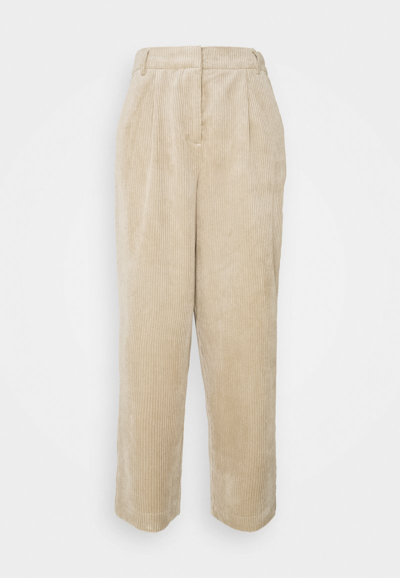 Moss Copenhagen - CHARIS JEPPI ANKLE PANTS - Trousers - white pepper