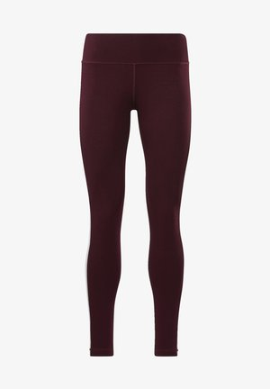 TRAINING ESSENTIALS LINEAR LOGO LEGGINGS - Leggings - burgundy