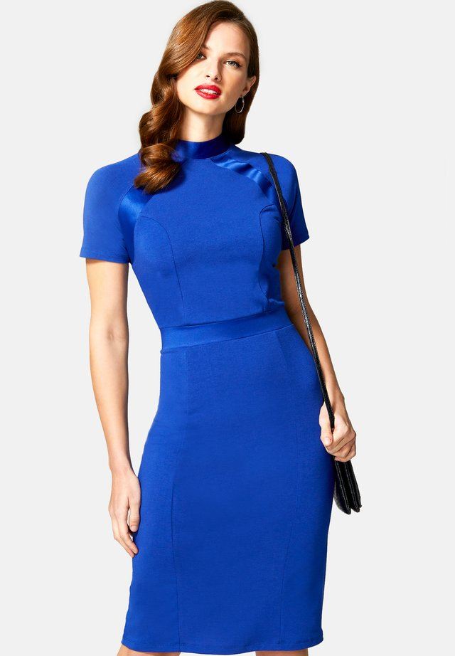TURTLE NECK DRESS - Korte jurk - royal blue