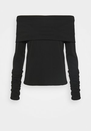 CARISI OFF SHOULDER - Long sleeved top - black