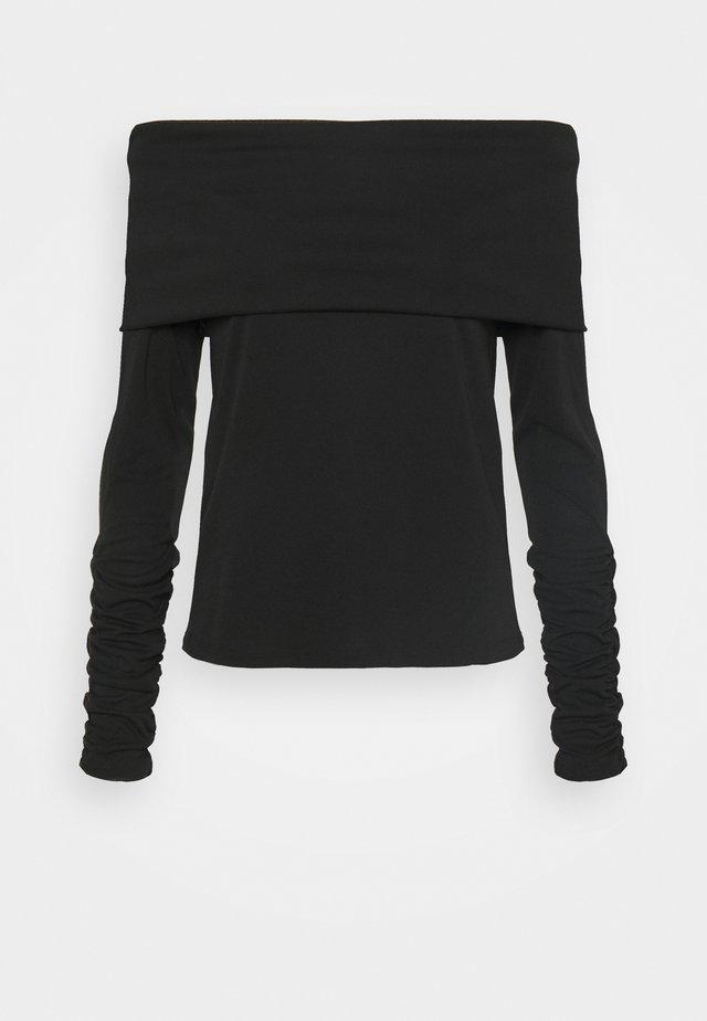 CARISI OFF SHOULDER - Bluzka z długim rękawem - black