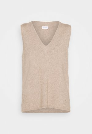 VIRIL V NECK - Jumper - natural melange