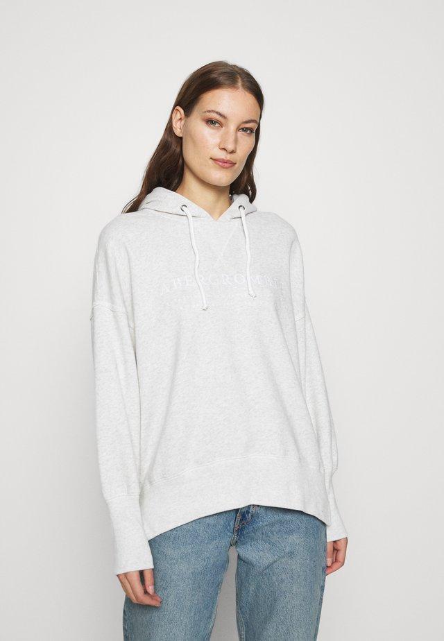 LOGO POPOVER - Bluza z kapturem - heather grey